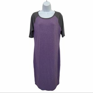 ❤️ LuLaRoe Purple Raglan T shirt Dress Size L ❤️